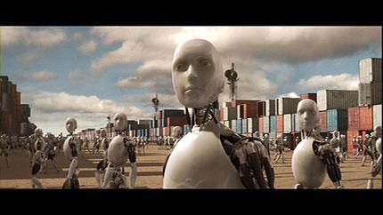 Escena de YO, ROBOT basada en la novela de Asimov